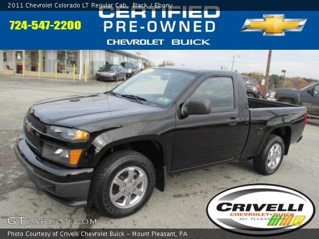 black 2011 chevrolet colorado lt regular cab ebony. Black Bedroom Furniture Sets. Home Design Ideas