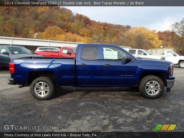 2014 Chevrolet Silverado 1500 LT Double Cab 4x4 in Blue Topaz Metallic