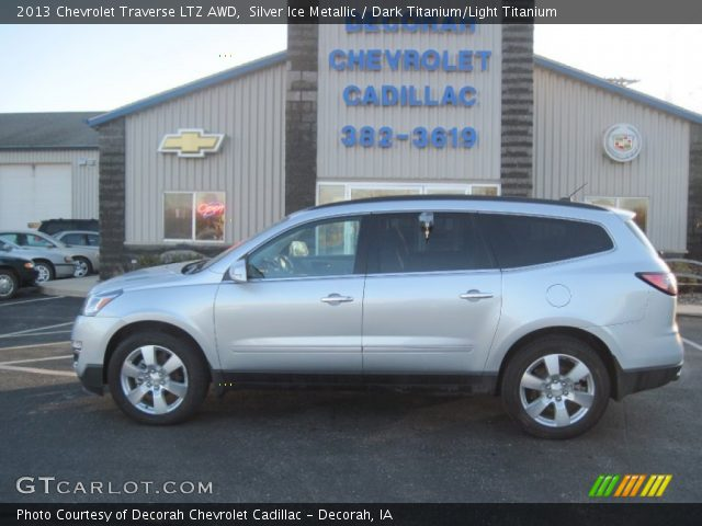 silver ice metallic 2013 chevrolet traverse ltz awd. Black Bedroom Furniture Sets. Home Design Ideas