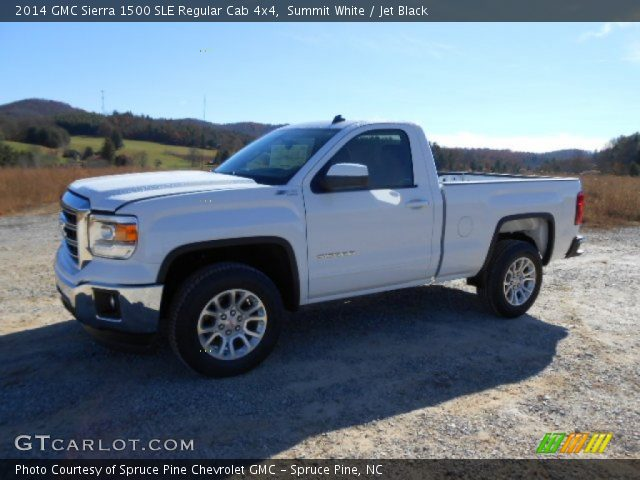summit white 2014 gmc sierra 1500 sle regular cab 4x4 jet black interior. Black Bedroom Furniture Sets. Home Design Ideas