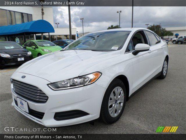 Silver Ford Fusion >> Oxford White - 2014 Ford Fusion S - Earth Gray Interior