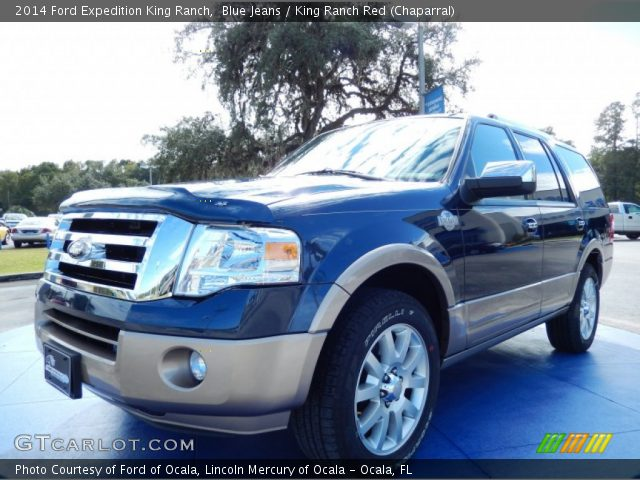 blue jeans 2014 ford expedition king ranch king ranch red chaparral interior gtcarlot. Black Bedroom Furniture Sets. Home Design Ideas