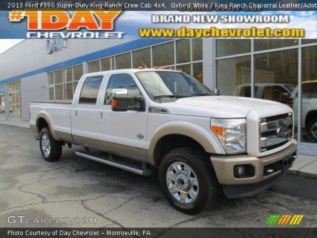 Oxford White 2013 Ford F350 Super Duty King Ranch Crew Cab 4x4 King Ranch Chaparral Leather