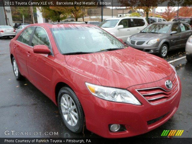 barcelona red metallic 2011 toyota camry xle v6 bisque. Black Bedroom Furniture Sets. Home Design Ideas