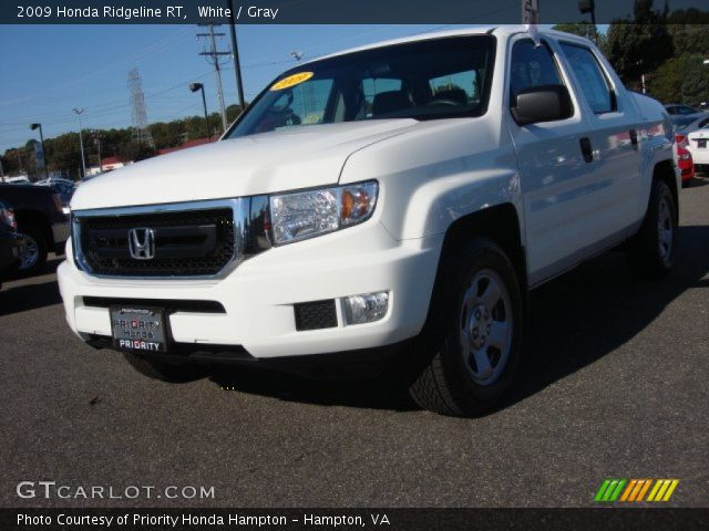 white 2009 honda ridgeline rt gray interior gtcarlot. Black Bedroom Furniture Sets. Home Design Ideas
