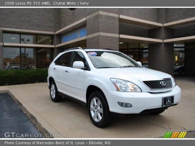 crystal white 2008 lexus rx 350 awd ivory interior vehicle archive 87822267. Black Bedroom Furniture Sets. Home Design Ideas