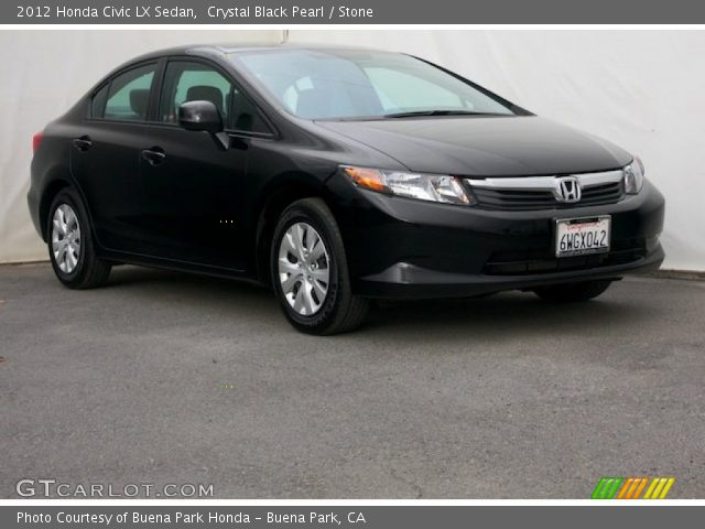 crystal black pearl 2012 honda civic lx sedan stone. Black Bedroom Furniture Sets. Home Design Ideas
