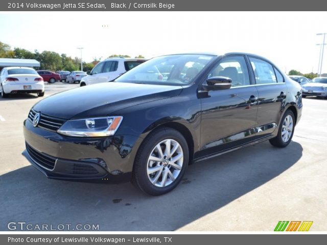 black 2014 volkswagen jetta se sedan cornsilk beige interior vehicle. Black Bedroom Furniture Sets. Home Design Ideas