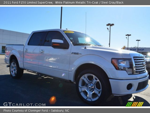 2011 Ford F150 Limited SuperCrew in White Platinum Metallic Tri-Coat