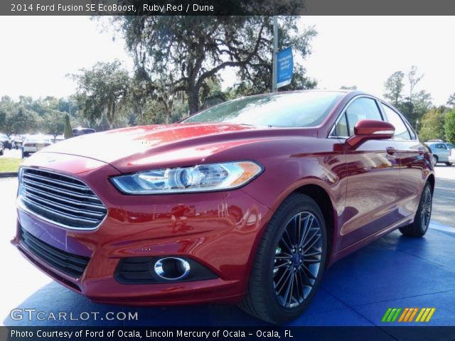 ruby red 2014 ford fusion se ecoboost dune interior vehicle archive 87910817. Black Bedroom Furniture Sets. Home Design Ideas