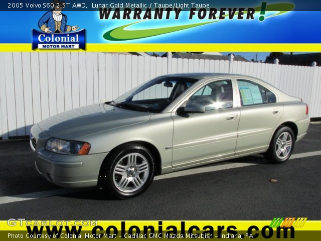 lunar gold metallic 2005 volvo s60 2 5t awd taupe light taupe interior. Black Bedroom Furniture Sets. Home Design Ideas