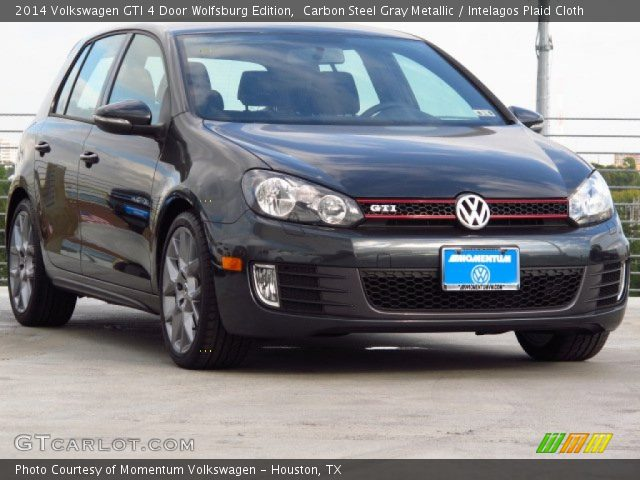 carbon steel gray metallic 2014 volkswagen gti 4 door. Black Bedroom Furniture Sets. Home Design Ideas