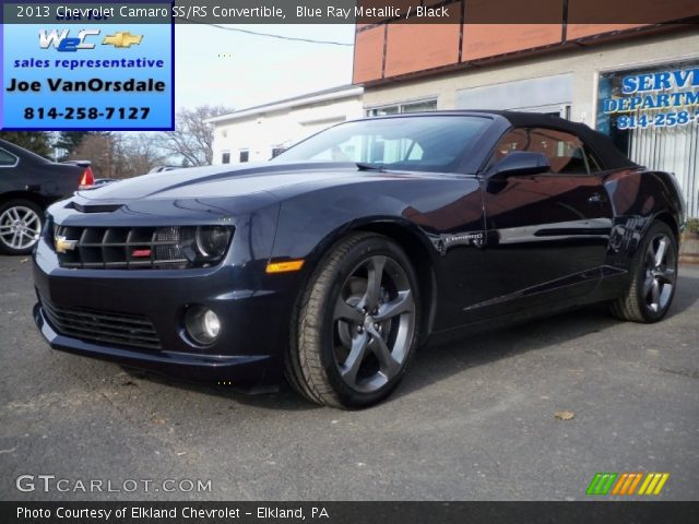 blue ray metallic 2013 chevrolet camaro ss rs. Black Bedroom Furniture Sets. Home Design Ideas