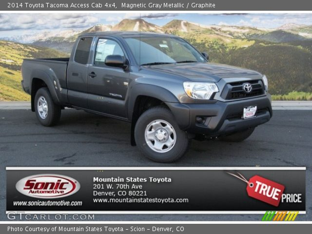 magnetic gray metallic 2014 toyota tacoma access cab 4x4 graphite interior. Black Bedroom Furniture Sets. Home Design Ideas