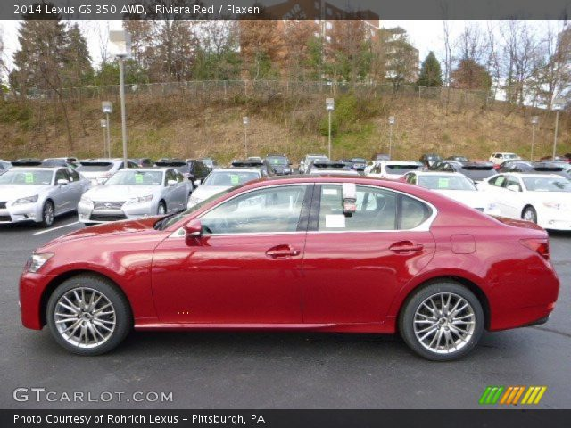 riviera red 2014 lexus gs 350 awd flaxen interior vehicle archive 87999069. Black Bedroom Furniture Sets. Home Design Ideas