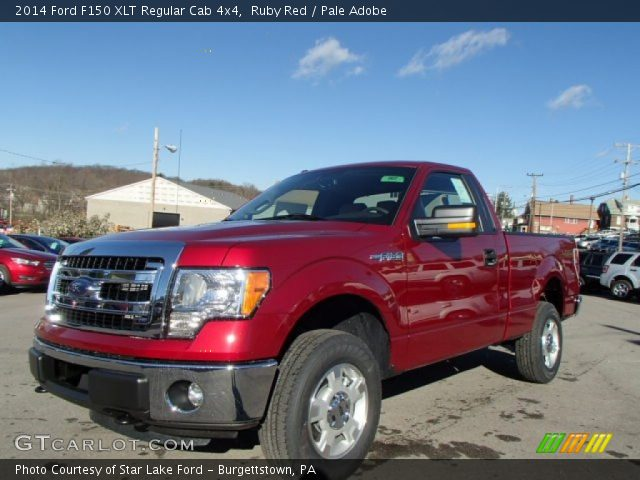 2014 Ford F150 XLT Regular Cab 4x4 in Ruby Red