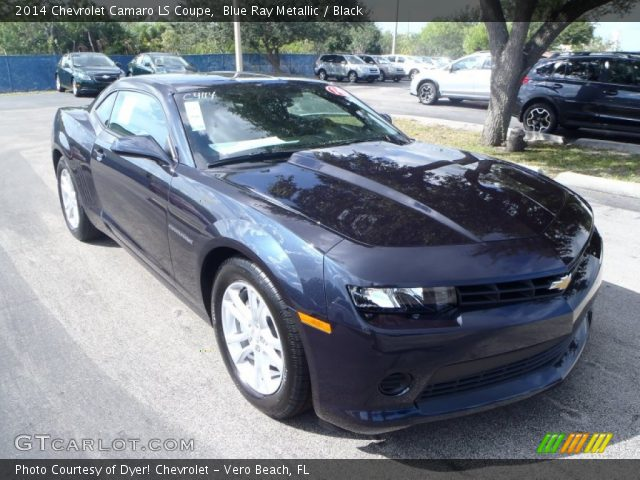 blue ray metallic 2014 chevrolet camaro ls coupe black. Black Bedroom Furniture Sets. Home Design Ideas