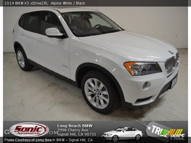 Alpine White 2014 Bmw X3 Xdrive28i Black Interior Vehicle Archive 88059484