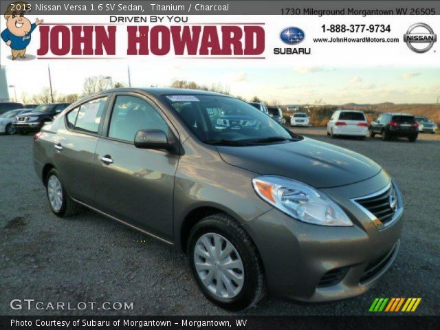 titanium 2013 nissan versa 1 6 sv sedan charcoal interior vehicle archive. Black Bedroom Furniture Sets. Home Design Ideas