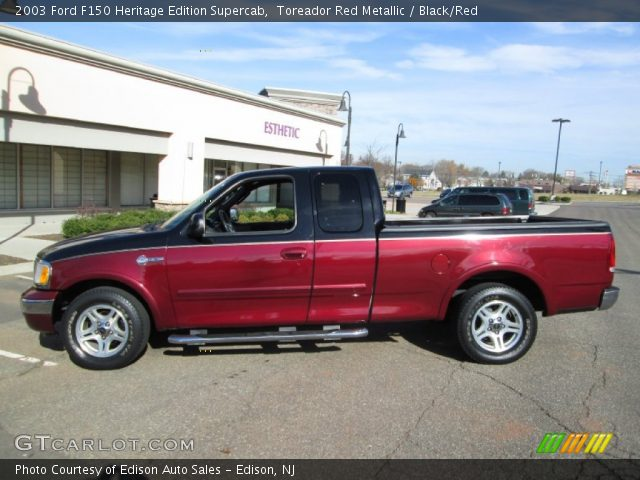 2003 Ford F150 Heritage Edition Supercab in Toreador Red Metallic
