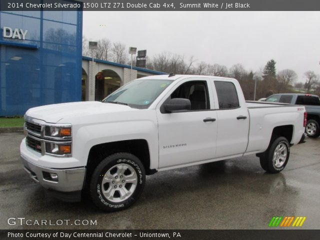 summit white 2014 chevrolet silverado 1500 ltz z71 double cab 4x4 jet black interior. Black Bedroom Furniture Sets. Home Design Ideas