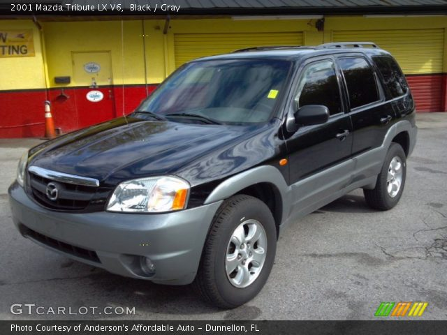 black 2001 mazda tribute lx v6 gray interior vehicle archive 88192639. Black Bedroom Furniture Sets. Home Design Ideas