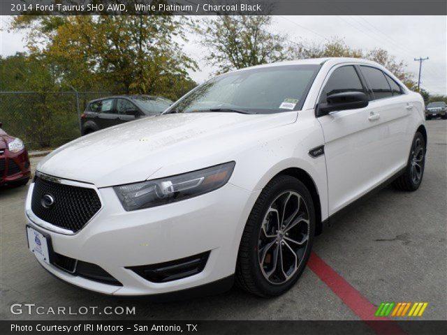 White Platinum 2014 Ford Taurus Sho Awd Charcoal Black Interior Vehicle