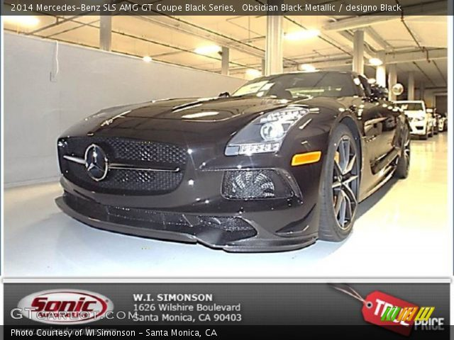 2014 Mercedes-Benz SLS AMG GT Coupe Black Series in Obsidian Black Metallic