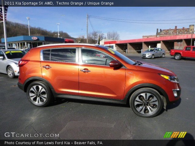 2011 Kia Sportage SX AWD in Techno Orange