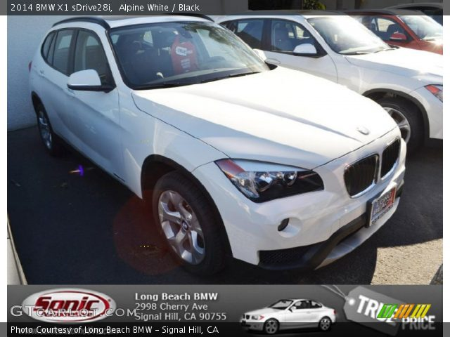 alpine white 2014 bmw x1 sdrive28i black interior vehicle archive 88255817. Black Bedroom Furniture Sets. Home Design Ideas