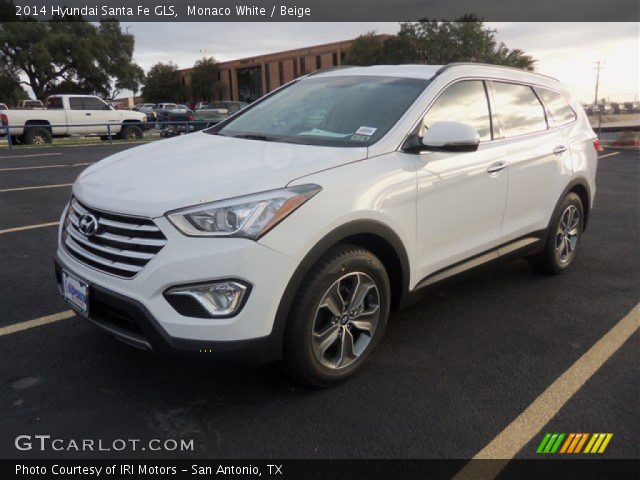 monaco white 2014 hyundai santa fe gls beige interior vehicle archive 88310277. Black Bedroom Furniture Sets. Home Design Ideas