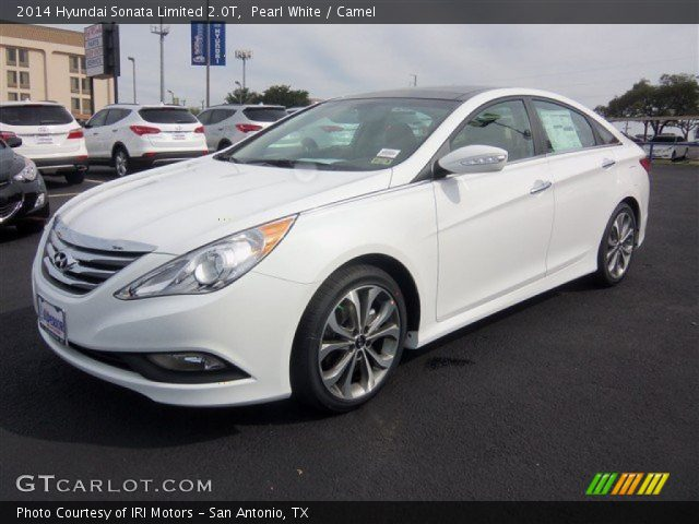 pearl white 2014 hyundai sonata limited 2 0t camel interior vehicle archive. Black Bedroom Furniture Sets. Home Design Ideas