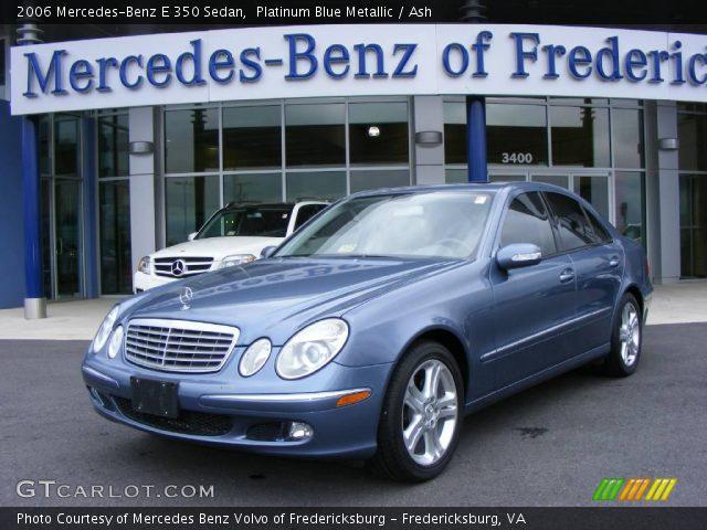 platinum blue metallic 2006 mercedes benz e 350 sedan. Black Bedroom Furniture Sets. Home Design Ideas