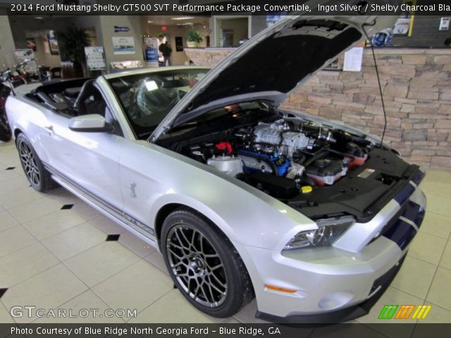 ingot silver 2014 ford mustang shelby gt500 svt performance package convertible shelby. Black Bedroom Furniture Sets. Home Design Ideas