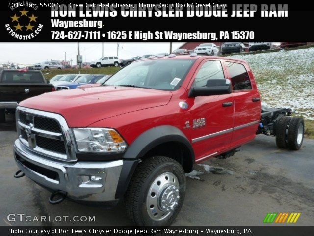 2014 Ram 5500 SLT Crew Cab 4x4 Chassis in Flame Red