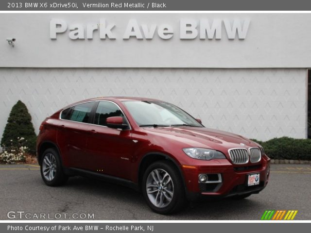 vermilion red metallic 2013 bmw x6 xdrive50i black. Black Bedroom Furniture Sets. Home Design Ideas