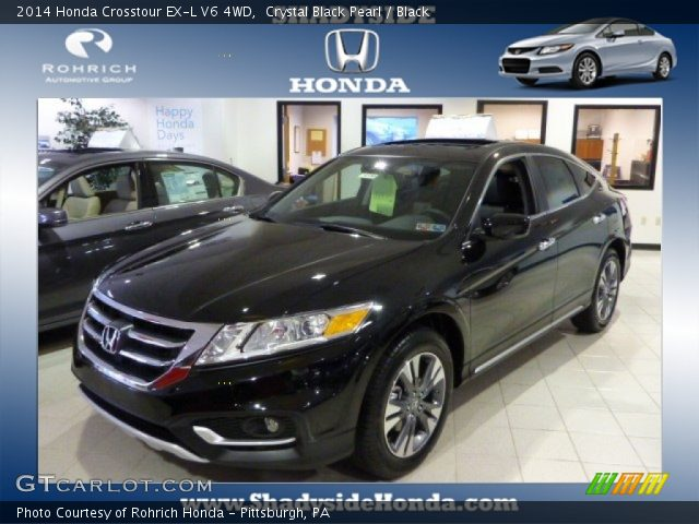 crystal black pearl 2014 honda crosstour ex l v6 4wd. Black Bedroom Furniture Sets. Home Design Ideas