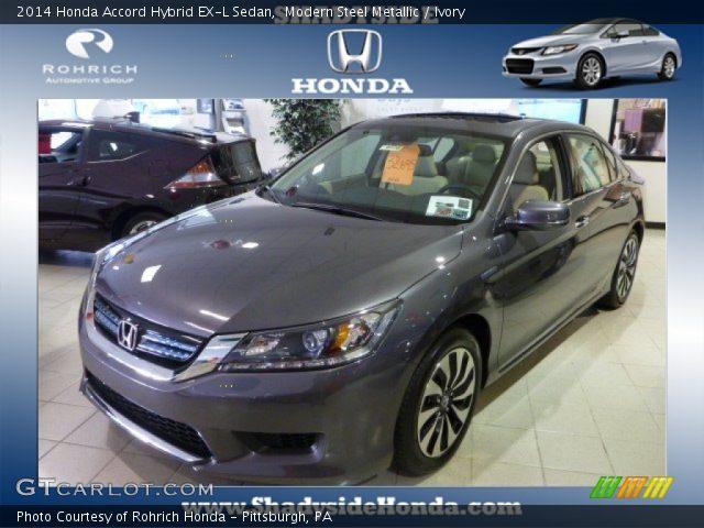2014 Honda Accord Hybrid EX-L Sedan in Modern Steel Metallic