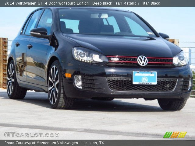 deep black pearl metallic 2014 volkswagen gti 4 door. Black Bedroom Furniture Sets. Home Design Ideas