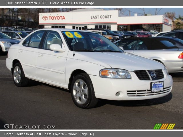 cloud white 2006 nissan sentra 1 8 s taupe beige interior vehicle archive. Black Bedroom Furniture Sets. Home Design Ideas