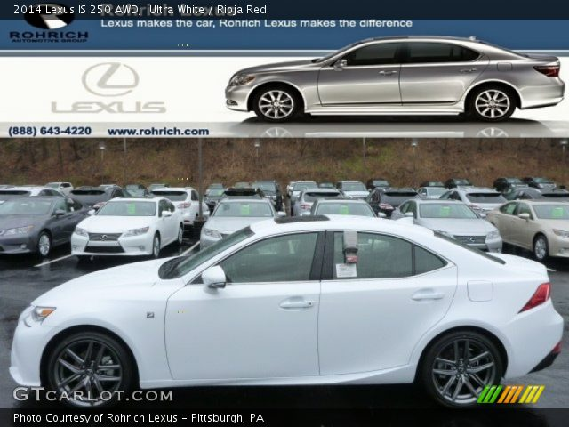 Ultra White 2014 Lexus Is 250 Awd Rioja Red Interior Vehicle Archive 88531923
