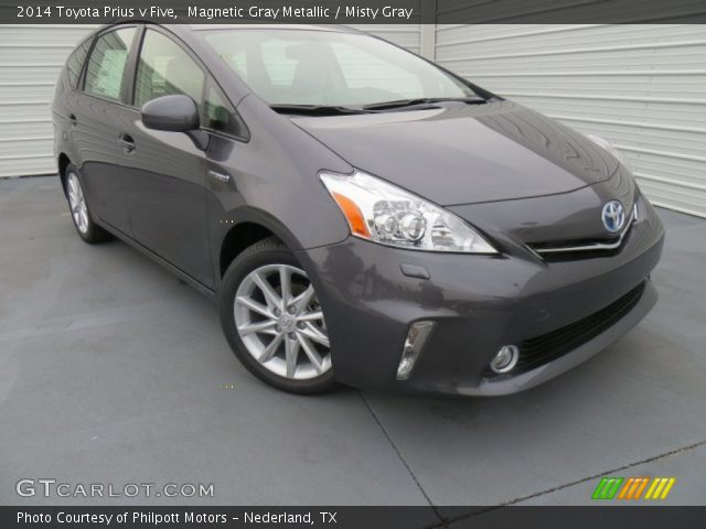 magnetic gray metallic 2014 toyota prius v five misty gray interior vehicle. Black Bedroom Furniture Sets. Home Design Ideas
