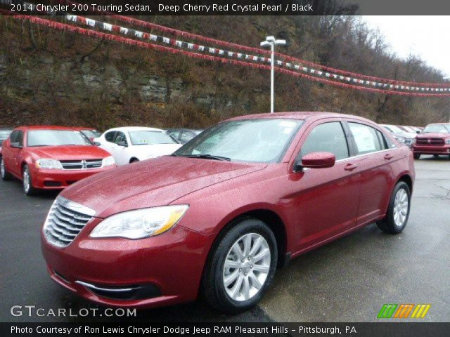 deep cherry red crystal pearl 2014 chrysler 200 touring. Black Bedroom Furniture Sets. Home Design Ideas