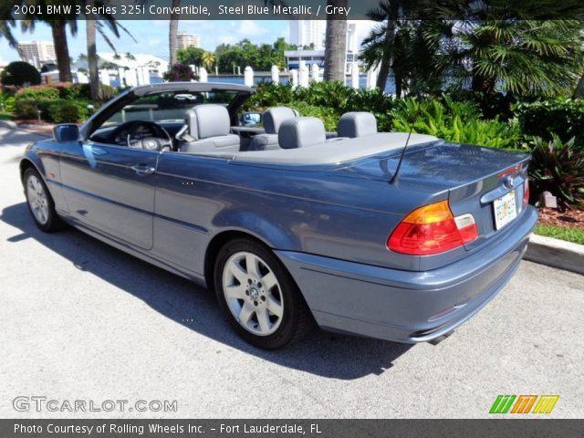 2001 BMW 3 Series 325i Convertible in Steel Blue Metallic