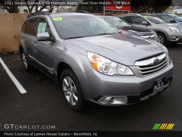 Steel Silver Metallic 2011 Subaru Outback 36r Premium Wagon Off