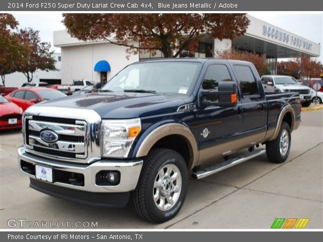 Blue Jeans Metallic 2014 Ford F250 Super Duty Lariat Crew Cab 4x4 with