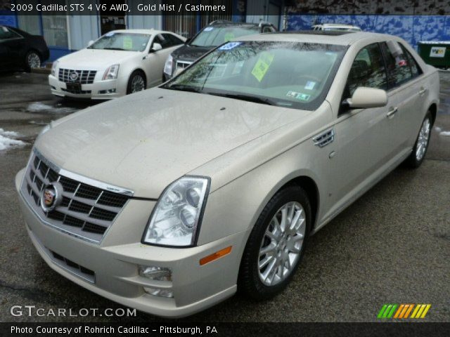 2009 Cadillac STS 4 V6 AWD in Gold Mist