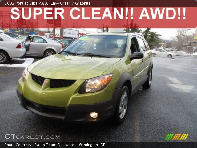 2003 Pontiac Vibe AWD in Envy Green