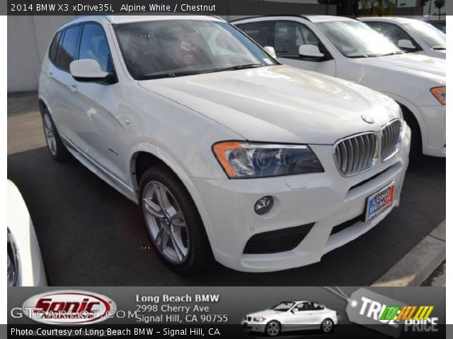 Alpine White 2014 Bmw X3 Xdrive35i Chestnut Interior Vehicle Archive 88693197