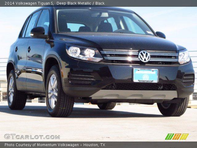Deep Black Metallic - 2014 Volkswagen Tiguan S - Black ...